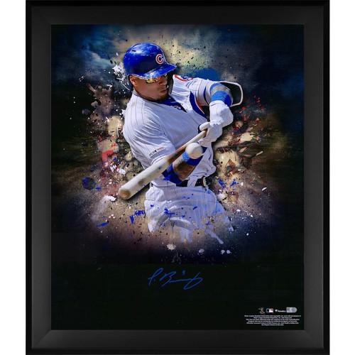 """JAVIER BAEZ Autographed Chicago Cubs """"In Focus"""" 20 x 24 Photograph FANATICS"""
