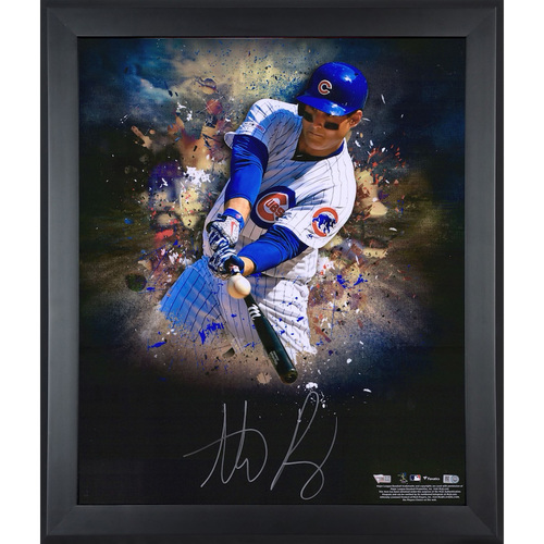 "ANTHONY RIZZO Autographed Chicago Cubs ""In Focus"" 20 x 24 Photograph FANATICS"