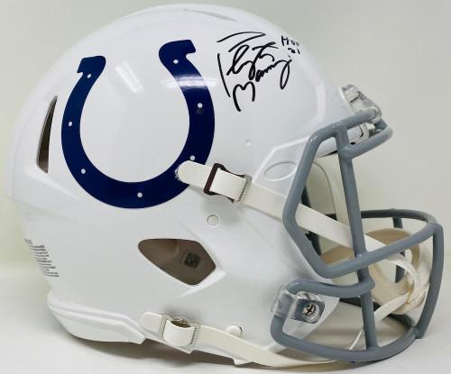 "PEYTON MANNING Autographed ""HOF 21"" Colts Authentic Speed Helmet FANATICS"