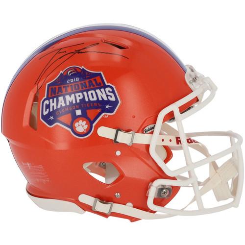 TREVOR LAWRENCE Autographed National Champ Logo Authentic Speed Helmet FANATICS