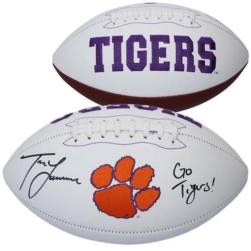 "TREVOR LAWRENCE Autographed ""Go Tigers"" Clemson White Panel Football FANATICS"