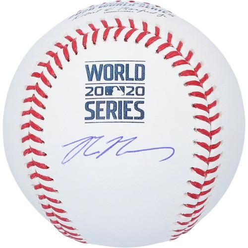 MAX MUNCY Autographed Dodgers 2020 World Series Logo Baseball FANATICS