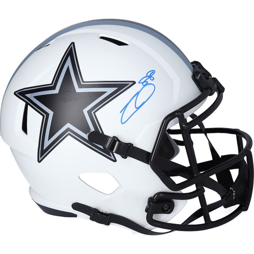 CEEDEE LAMB Autographed Cowboys Lunar Eclipse Speed Helmet FANATICS