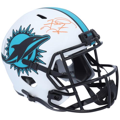 TUA TAGOVAILOA Autographed Miami Dolphins Lunar Eclipse Speed Helmet FANATICS