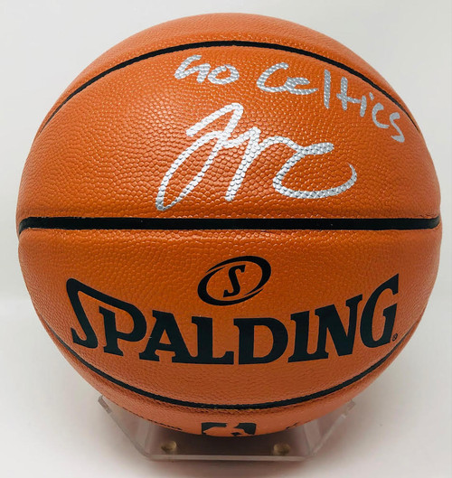 "JAYSON TATUM Signed ""Go Celtics"" Boston Celtics Spalding Basketball FANATICS"