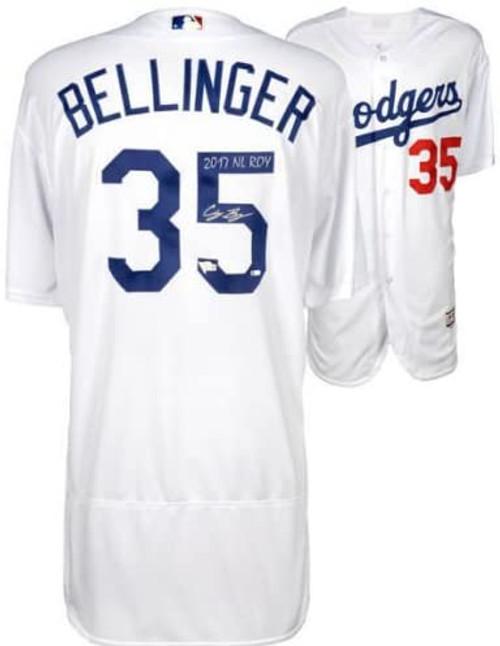 "CODY BELLINGER Autographed ""2017 NL ROY"" Dodgers Authentic Jersey FANATICS"