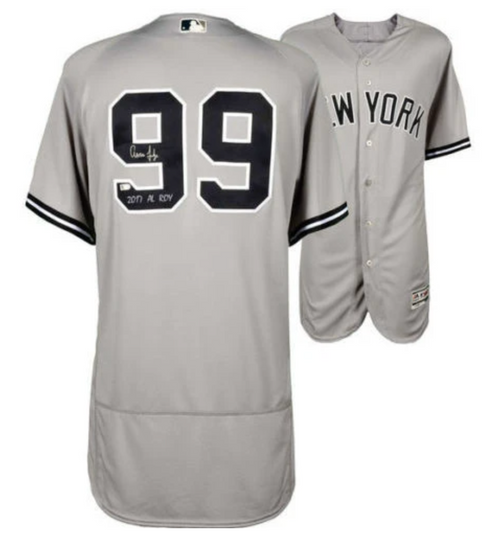 Jersey of Aaron judge who plays for new york yankees