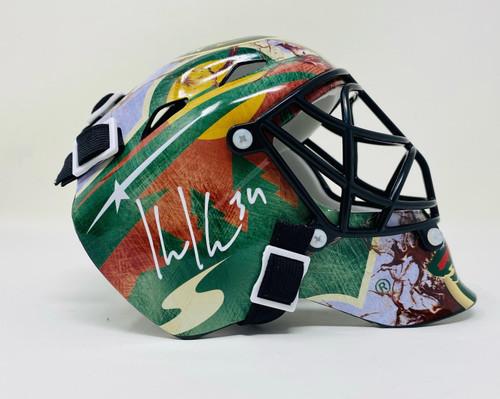 KAAPO KAHKONEN Autographed Minnesota Wild Mini Goalie Mask FANATICS