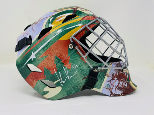 KAAPO KAHKONEN Autographed Minnesota Wild Full Size Goalie Mask FANATICS