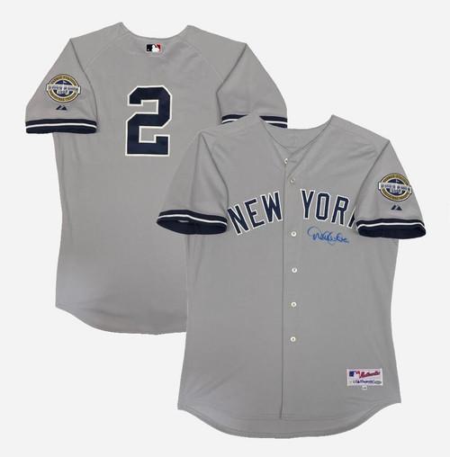 DEREK JETER Autographed Yankees 2009 Inaugural Season Authentic Jersey STEINER