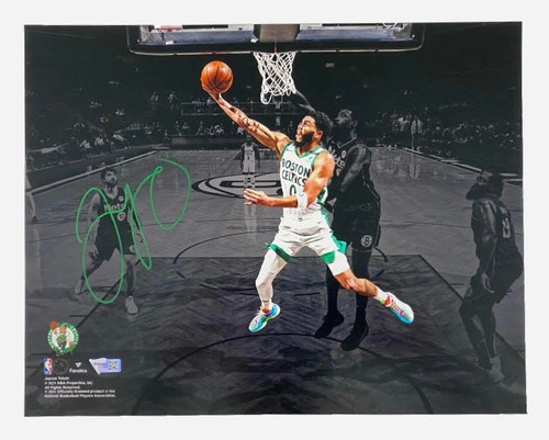 "JAYSON TATUM Autographed Celtics ""Lay Up"" 11 x 14 Spotlight Photograph FANATICS"