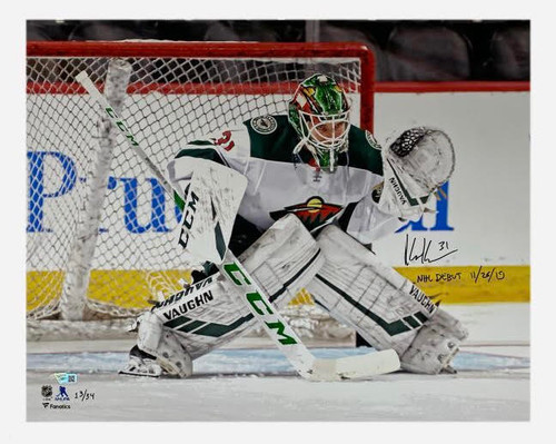 "KAAPO KAHKONEN Autographed ""NHL Debut 11/26/19"" 16"" x 20"" Photograph FANATICS LE"