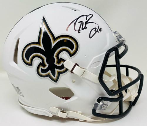 DREW BREES Autographed New Orleans Saints White Matte Authentic Helmet BECKETT
