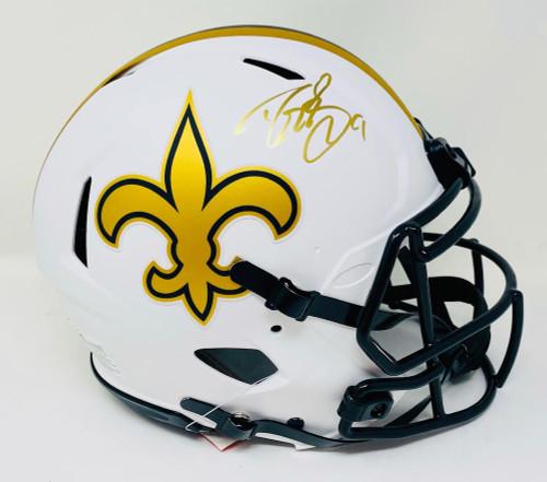 DREW BREES Autographed New Orleans Saints Lunar Eclipse Authentic Helmet BECKETT