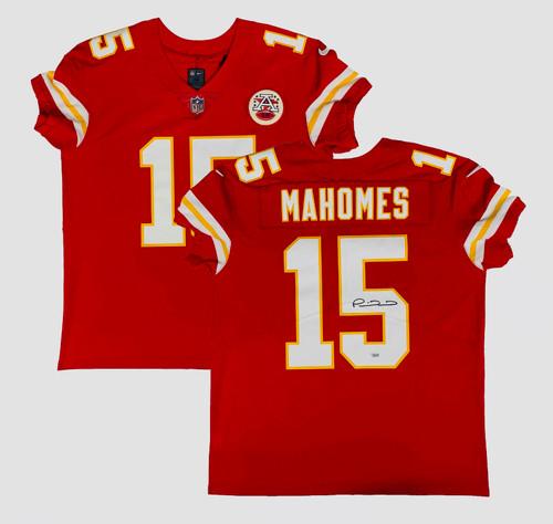 PATRICK MAHOMES Autographed Kansas City Chiefs Red Nike Elite Jersey FANATICS