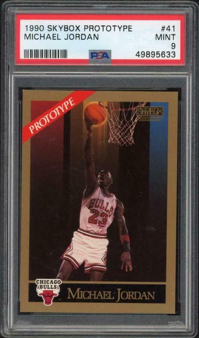 MICHAEL JORDAN 1990 SKYBOX PROTOTYPE #41 TRADING CARD PSA 9 MINT