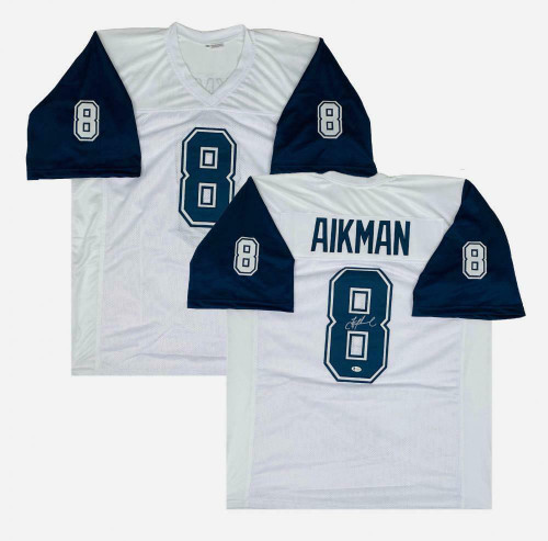 TROY AIKMAN Autographed Dallas Cowboys Home White Jersey BECKETT
