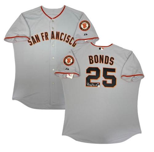 BARRY BONDS Autographed Authentic San Francisco Giants Jersey BONDS HOLO