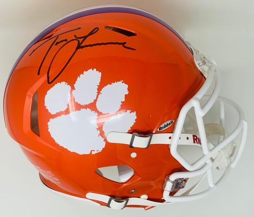 TREVOR LAWRENCE Autographed Clemson Tigers Authentic Speed Helmet FANATICS