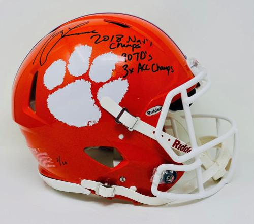 TREVOR LAWRENCE Autographed Clemson Tigers Authentic Stat Helmet FANATICS LE 16