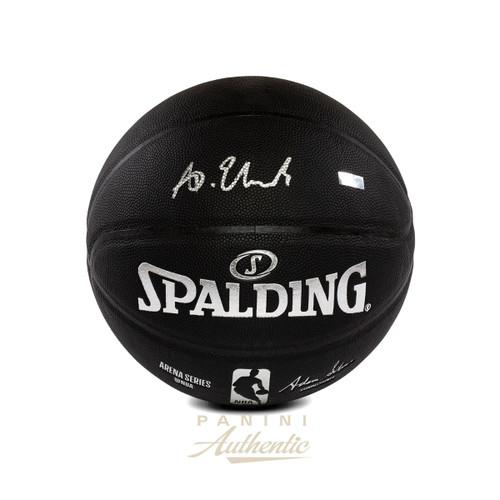 ANTHONY EDWARDS Autographed Timberwolves Black Spalding Basketball PANINI