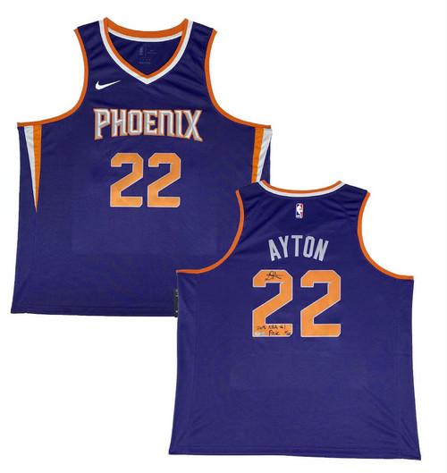 """DEANDRE AYTON Autographed Suns """"2018 NBA #1 Pick"""" Swingman Jersey GDL LE 18/22"""