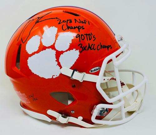 TREVOR LAWRENCE Autographed Tigers Authentic Stat Helmet FANATICS LE 16/16