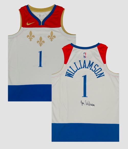 ZION WILLIAMSON Autographed N.O. Pelicans Nike City Edition Jersey FANATICS