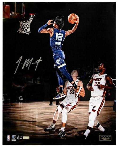 """JA MORANT Autographed Grizzlies """"Sky Walker"""" 16"""" x 20"""" Photograph PANINI LE 112"""