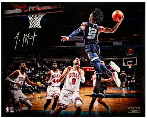 """JA MORANT Autographed Grizzlies """"Air Morant"""" 16"""" x 20"""" Photograph PANINI LE 112"""