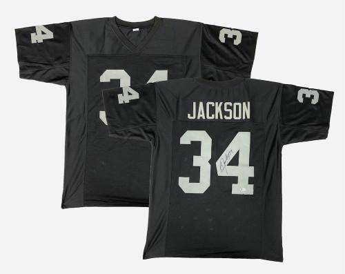 BO JACKSON Autographed Black Jersey BECKETT