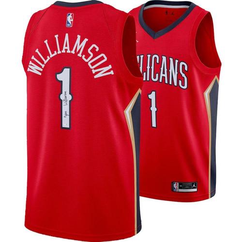 ZION WILLIAMSON Autographed New Orleans Pelicans Jordan Brand Jersey FANATICS