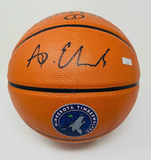 ANTHONY EDWARDS Autographed Timberwolves Logo Spalding Basketball PANINI