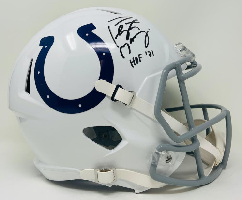 "PEYTON MANNING Autographed ""HOF 21"" Colts Full Size Speed Helmet FANATICS"