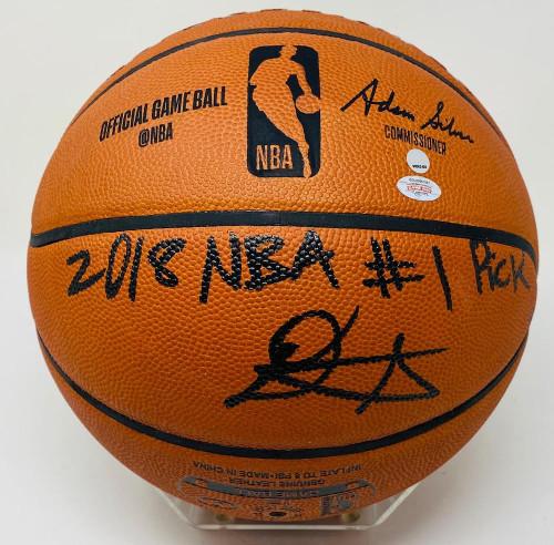 DEANDRE AYTON Autographed 2018 NBA #1 Pick Authentic Basketball GDL LE 18/22