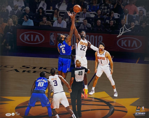 """DEANDRE AYTON Signed Phoenix Suns 16 x 20 """"Tip Off"""" Photograph STEINER LE 18/50"""