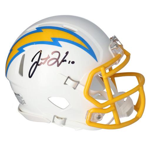 JUSTIN HERBERT Autographed Los Angeles Chargers Speed Mini Helmet FANATICS