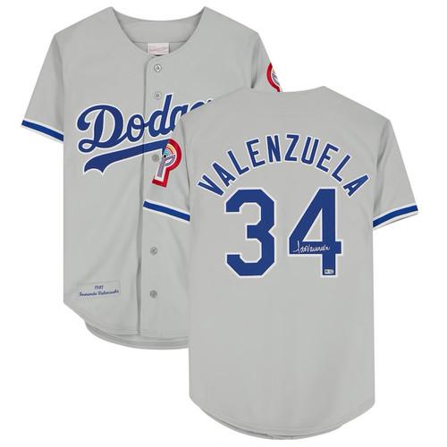 FERNANDO VALENZUELA Autographed Los Angeles Dodgers Throwback Jersey FANATICS