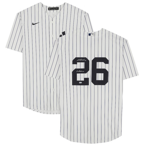 "DJ LEMAHIEU Autographed ""LeMachine"" New York Yankees Home Jersey FANATICS"