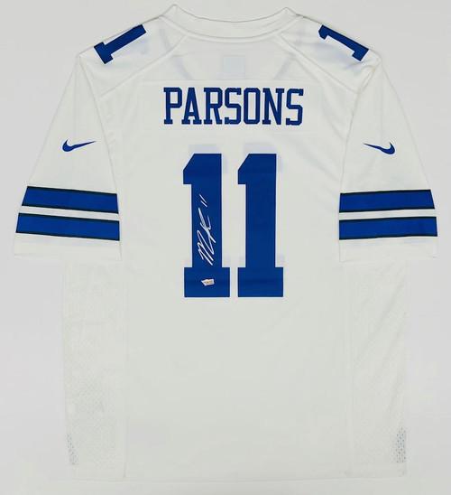 MICAH PARSONS Autographed Dallas Cowboys Nike White Game Jersey FANATICS