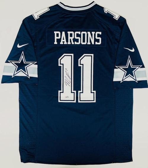 MICAH PARSONS Autographed Dallas Cowboys Nike Navy Blue Game Jersey FANATICS