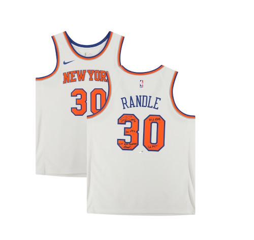 JULIUS RANDLE Autographed New York Knicks Stat Nike Jersey FANATICS LE 21