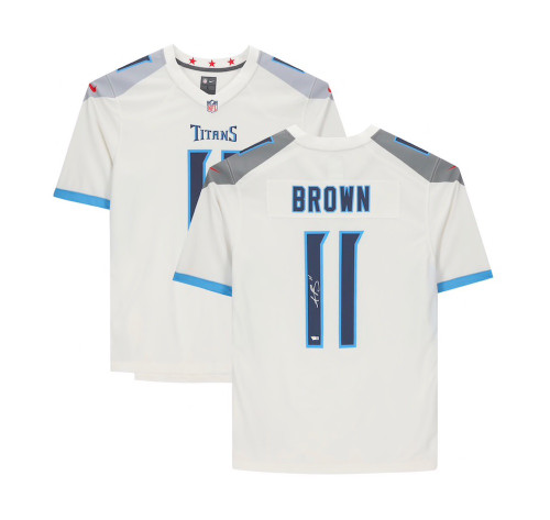 A.J. BROWN Autographed Tennessee Titans Nike Game Jersey FANATICS