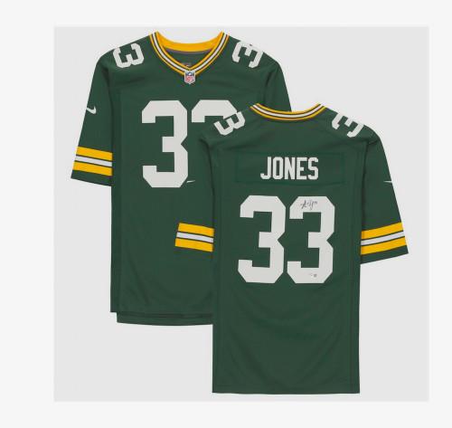 AARON JONES Autographed Green Bay Packers Nike Game Jersey FANATICS