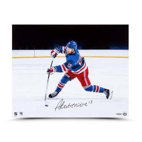 "ALEXIS LAFRENIERE Autographed ""Accuracy"" 20x16 Photo UDA"