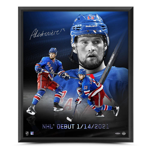 """ALEXIS LAFRENIERE Autographed """"NHL Debut"""" 20x24 Framed Photo UDA"""