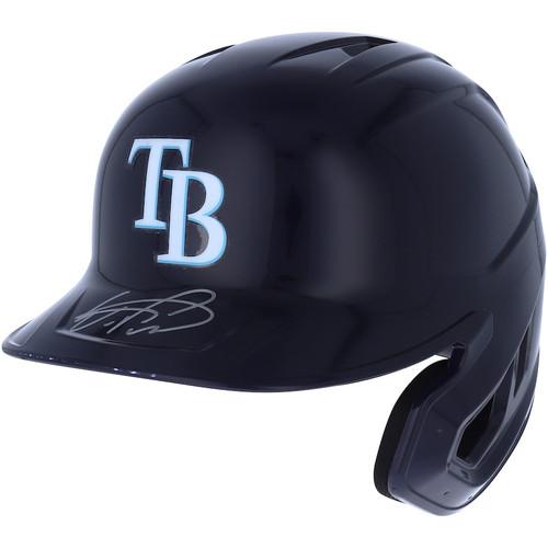 WANDER FRANCO Autographed Tampa Bay Rays Batting Helmet FANATICS