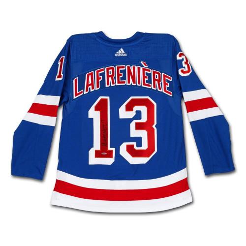 ALEXIS LAFRENIERE Autographed Authentic New York Rangers Adidas Blue Jersey UDA