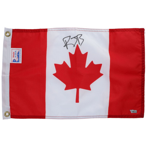 R.J. BARRETT Autographed NY Knicks Canadian Mini Flag FANATICS