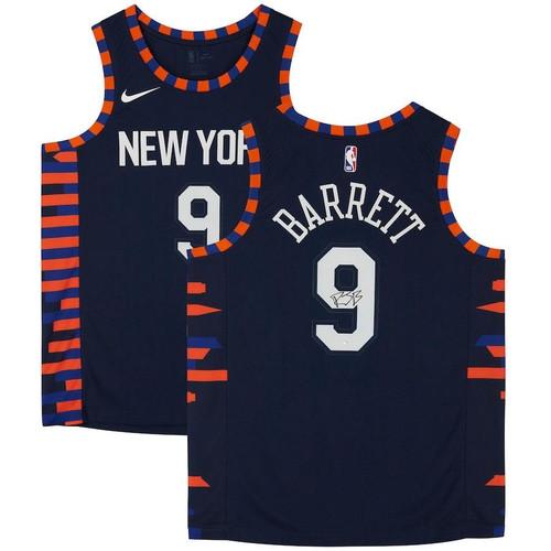 R.J. BARRETT Autographed N.Y. Knicks Nike City Edition Swingman Jersey FANATICS